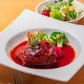 料理メニュー写真豚スネ肉のトマト煮込みセット