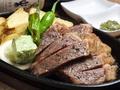 料理メニュー写真国産牛ロースステーキ200g