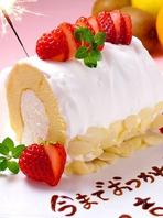 誕生日・歓送迎会に!自家製メッセージ付デザート進呈!