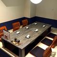 【2F/東屋】広々とした掘りごたつ個室は、最大9名様まで可能の個室です。