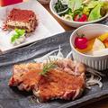 料理メニュー写真ロースステーキセット