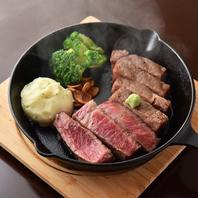A5ランクの山形牛や日高四元神威豚など肉料理も必見。