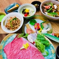 料理メニュー写真ディナーステーキコース