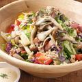 料理メニュー写真赤えびのカルパッチョ/彩り野菜のサラダ