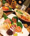 料理メニュー写真立川で【鮮魚を嗜む】3時間飲み放題付9品4000円◆濃厚海老出汁鍋+鮮魚の御造り3種盛り合わせが味わえる☆