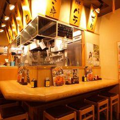 カウンター席はしっとり飲むのにおすすめ♪ [上北沢/飲み放題/焼き鳥/ビール/座敷/宴会/飲み会/女子会/デート]