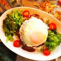 料理メニュー写真ハンバーグ ロコモコ
