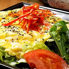 厚切りベーコンとマリネ野菜 HOTオムレツサラダ