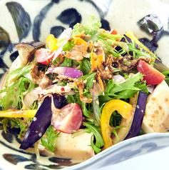 料理メニュー写真豆腐と高菜のごまサラダ