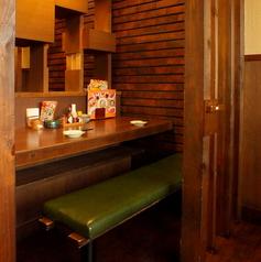 カウンターの、お二人様席!お一人様のお客様も大歓迎です♪