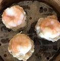 料理メニュー写真海老シューマイ/ごま団子/春巻き/海老蒸しギョーザ