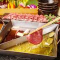 料理メニュー写真牛タンと十五種野菜の二色オイルしゃぶしゃぶ