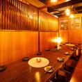 広々としたのテーブル個室。ご予約必須の人気のお席です!