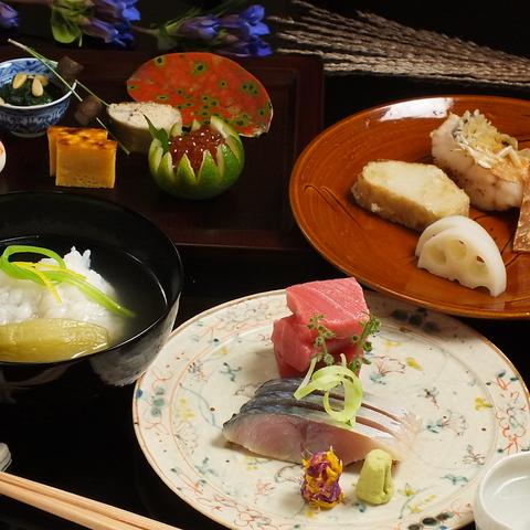 季節の素材を生かした日本料理