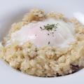 料理メニュー写真<Doria・Rissoto・Penne>ポルチーニ茸のリゾット 半熟玉子のせ