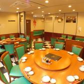 回る円卓のお席も多数ご用意しております!8名様から20名様、30名様、最大60名様まで対応可能!