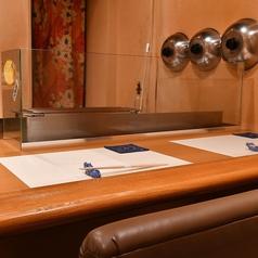 【カウンター席ございます】お一人様からご利用可能です。デートや仲の良いご友人とのお食事にも最適です。