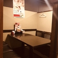 テーブルの完全個室も多数ご用意