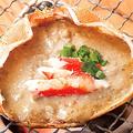 料理メニュー写真蟹味噌甲羅焼き/いか丸焼き