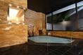 1Fレストランと同じフロアーにある大浴場。人工温泉 炭酸カルシウム温泉です。入浴のあとのお食事は格別。