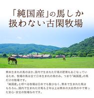 熊本県の古閑牧場から直送した新鮮馬刺しを堪能!