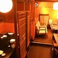 中2階には他テーブル個室も。