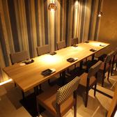完全個室のお席でゆったりと当店こだわりの和食や、新鮮なお刺身、お料理との相性も抜群の日本酒や焼酎などのお酒を一緒にご堪能ください。