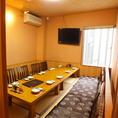 2階に10名様用・20名様用の個室をご用意。人気のお席の為、ご予約はお早めにお願いいたします。