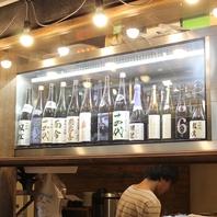 全国各地の銘酒を常時約100種類取り揃えています♪