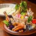 料理メニュー写真ベジ白湯豆乳 農園ファーム鎌倉野菜鍋
