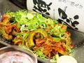 料理メニュー写真ゴーヤ豚キムチャンプルー