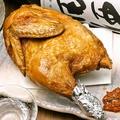 料理メニュー写真仕込み丸1日!若鶏の半身揚
