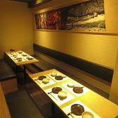 ~6名がけのテーブル。飲み放題付コース3500円~6000円