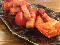 ベーコンとトマトのロースト