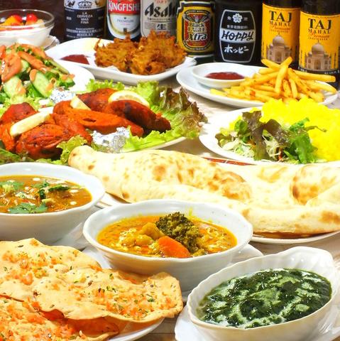 少人数での使用から大人数のパーティーまで、本格インド料理を堪能できます!