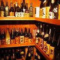 焼酎・日本酒も数多く取り揃えております。