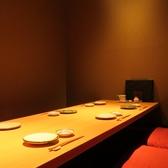 ゆったり6名様、通常の席の間隔で8名様までご利用いただける個室です。4部屋ご用意しております。