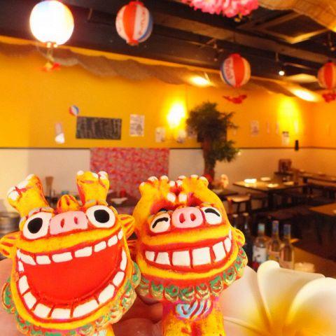 2名様~最大40名様まで個室完備♪貸切OK◎ふんわりとした照明が店内を照らします。ゆったりと落ち着ける空間でこだわりの沖縄料理をご堪能ください♪2時間飲み放題付き自慢の沖縄料理満載のコース2990円(税抜)~!!