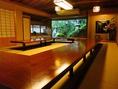 掘りごたつ式のお座敷個室です。ご宴会や慶事、法事、ご家族や親戚同士でのお食事会などにご利用頂けます。