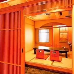 2名様からご利用いただけるお座敷個室。接待やデート、記念日に最適です。