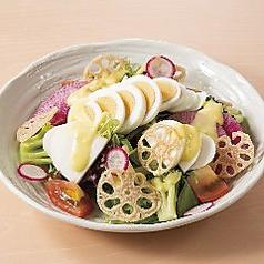 シャキシャキ野菜の彩サラダ