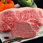 肉の表情の変化が面白い希少深谷牛と地元農家の新鮮野菜。