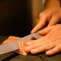 料理メニュー写真 白の三種 ひらめ・鯛・あおり烏賊