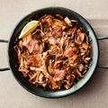料理メニュー写真イベリコ豚とポルチーニ茸のパエリア