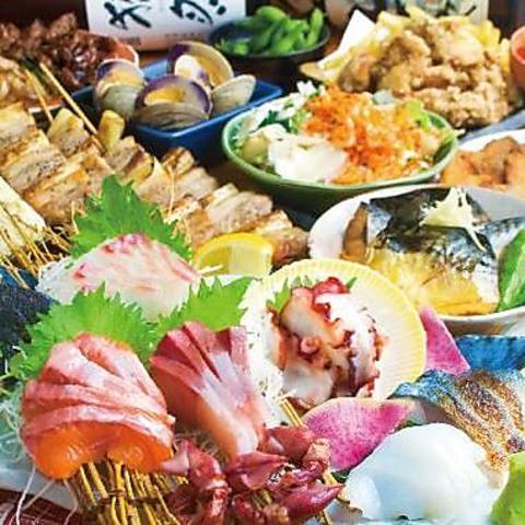 特別歓迎会・送迎会コースもスタート!!名物料理盛り沢山の飲放付4000円が人気です♪