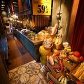 ヨーロッパのマルシェを店内に再現した雰囲気♪