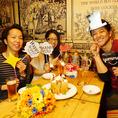 お誕生日や記念日のお祝いも応援します!BIGハニートースト付きコース3500円もあり★