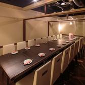 落ち着いた雰囲気の中でプライベート利用におすすめのテーブル席です。12名~20名様用