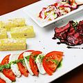 料理メニュー写真前菜の盛り合わせ3種