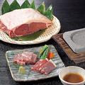 料理メニュー写真オーシャンビーフと黒毛和牛の溶岩焼き